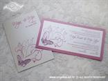 komplet pozivnica i zahvalnica s ciklama tiskom i leptirom