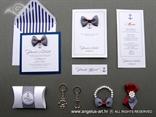 komplet za vjencanje u plavo bijelim tonovima morska tema