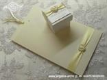 komplet zahvalnica i konfet krem s bijelim srcem