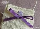 Konfet za vjenčanje Natural bijela torbica