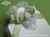 Konfet za vjenčanje Lavanda sa zelenom mašnicom