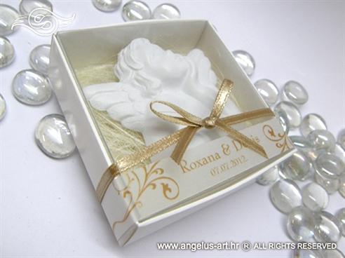Magnet bijelo zlatni anđeo