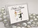 Konfet za vjenčanje Plastični magnet sa stalkom 2 (vodoravan)