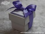konfet za vjenčanje s ljubičastom lavanda mašnom