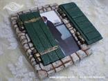 konfet za vjenčanje zelene škure kameni prozor