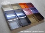 konfetna kutija za vjenčanje u boji s prozirnim poklopcem