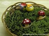 Jastučić za prstenje Košarica s ptičicama