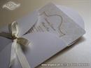 Pozivnica za vjenčanje - Cream Damask Mini Beauty