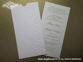 Pozivnica za vjenčanje Charm Simple