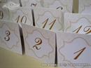 Broj stola za svadbenu svečanost - Damask Cream