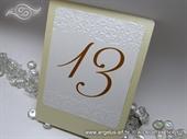 Broj stola za svadbenu svečanost - Krem broj 3D