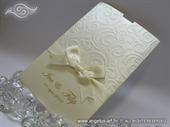 Pozivnica za vjenčanje krem - Cream Charm Elegance