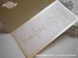 krem jelovnik za vjenčanje iznutra s tiskom teksta