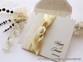 Pozivnica za vjenčanje - Cream Stylish Bow