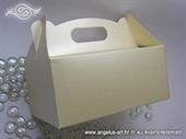 Krem perlasta kutija za kolače bez dekoracije
