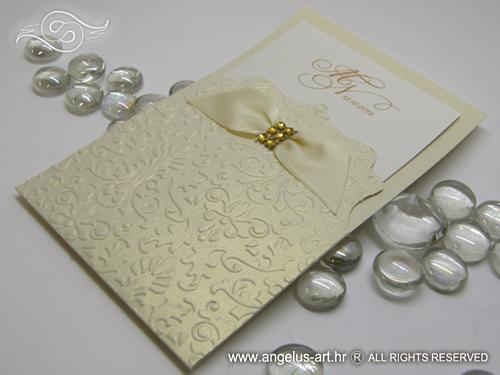 Cream And Gold Wedding Invitations: Destiny Exclusive Gold Cream