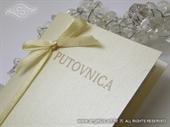Pozivnica za vjenčanje Krem putovnica