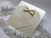 Pozivnica za vjenčanje - Cream Bow Heart