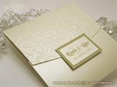 Pozivnica za vjenčanje Classic Cream Gold