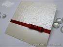 Pozivnica za vjenčanje - Red Bow Charm