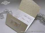 krem pozivnica za vjencanje sa strukturom