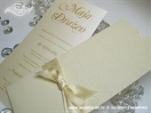 Pozivnica za vjenčanje Charm Cream