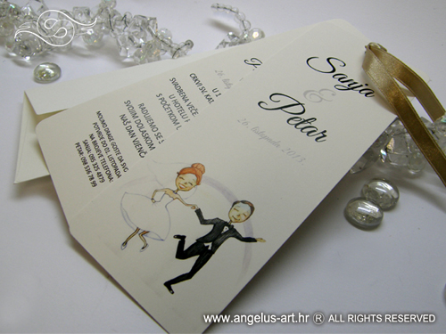 wedding invitation wedding bookmark angelus art