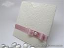 Krem pozivnica za vjenčanje roza mašna
