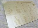 Raspored sjedenjaa - Cream Monogram Charm