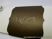 Pozivnica za vjenčanje - Sepia True Love - L
