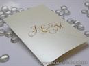 Zahvalnica za vjenčanje - Cream Monogram