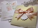 Wedding invitation - Coral Bow Charm