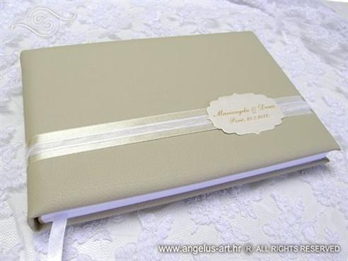 krem zlatna knjiga gostiju za vjencanje