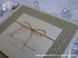 krem zlatna pozivnica s mašnicom i 3D tiskom