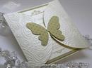 Pozivnica za vjenčanje - Golden Butterfly Diva
