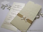 Pozivnica za vjenčanje - Charm Cream Bow