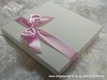 kutija za jastučić za prstenje rozi