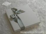 kutija za knjigu za prstenje srebrno bijela