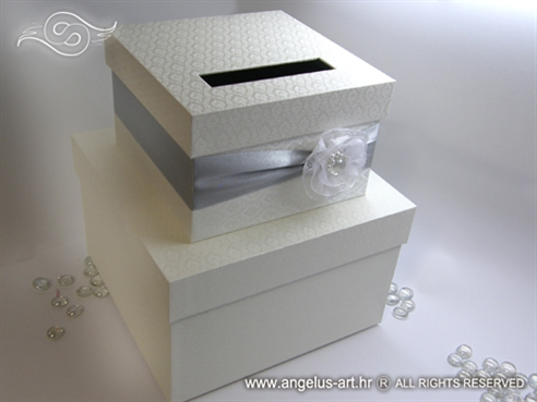 Silver Flower Cake