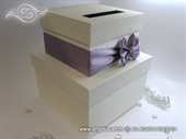 Money box - Lilac Bow Cake