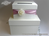 Money box - Pink Flower Cake