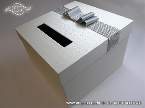 kutija za novce kutija za kuverte srebrna