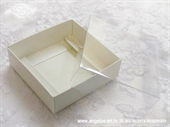 Kutijice za konfete - Bijela kutijica s prozirnim poklopcem