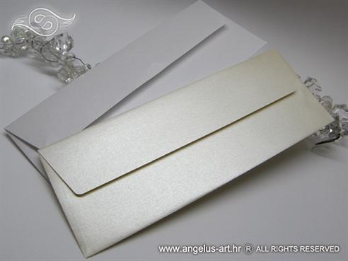 Kuverta 21,5x8cm PERLASTE