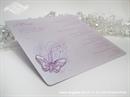 Menu za vjenčanje - Leptirov let - lila
