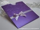 lavanda pozivnica od svilenog kartona s 3D blindruckom