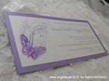 lavanda pozivnica s leptirom i tiskom