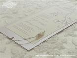 lavanda pozivnica s perlicama na izvlačenje s tiskom