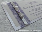 Pozivnica za vjenčanje Harmony Lila cirkon