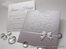 Pozivnica za vjenčanje Simple Lilac Charm